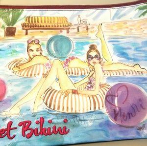 Henri Bendel Wet Bikini bag brand new